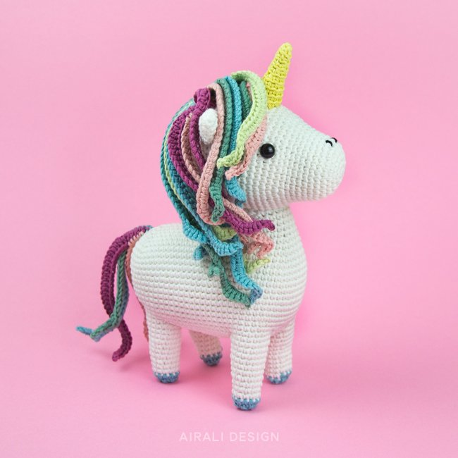 Marla the Amigurumi Unicorn - Crochet Pattern by Airali design