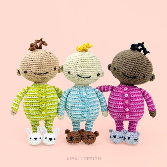 Bambini amigurumi in pigiama