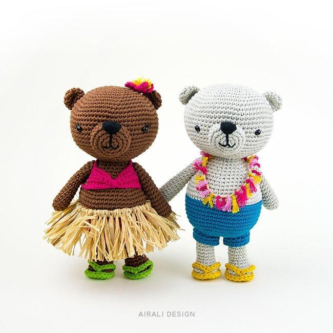 Jim and Alani the Amigurumi Bears - Crochet Pattern by Airali design