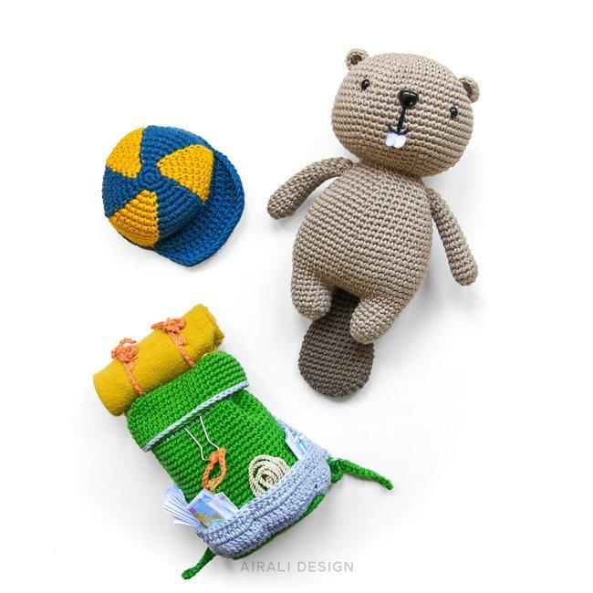 Lenny the Amigurumi Beaver - Crochet Pattern by Airali design
