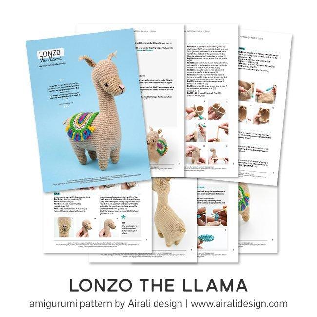 Lonzo il Lama Amigurumi - Schema Uncinetto by Airali design