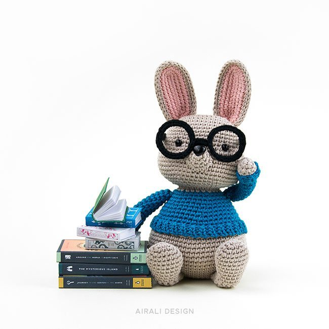 Norman the Amigurumi Bunny - Crochet Pattern by Airali design