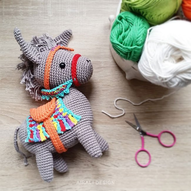 Crochet Donkey Amigurumi Project: British Wool | TOFT | 650x650