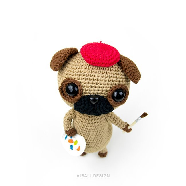 Albert the Amigurumi Pug - Crochet Pattern by Airali design