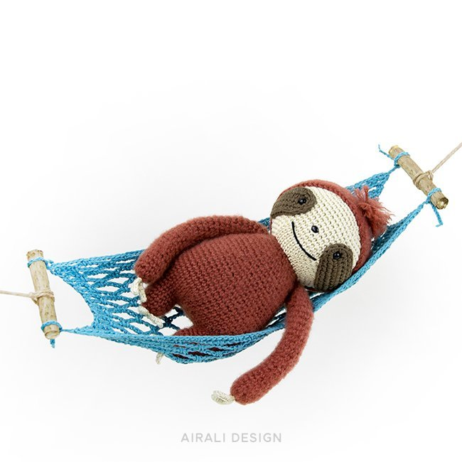 Brando the Amigurumi Sloth - Crochet Pattern by Airali design