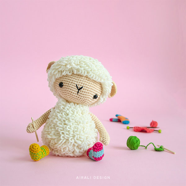 Anita the Amigurumi Sheep - Crochet Pattern by Airali design
