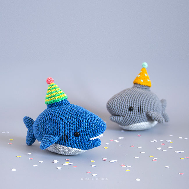 Amigurumi Party Shark - Crochet Pattern by Airali design