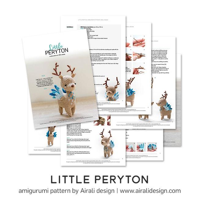 Piccolo Peryton Amigurumi - Schema Uncinetto by Airali design