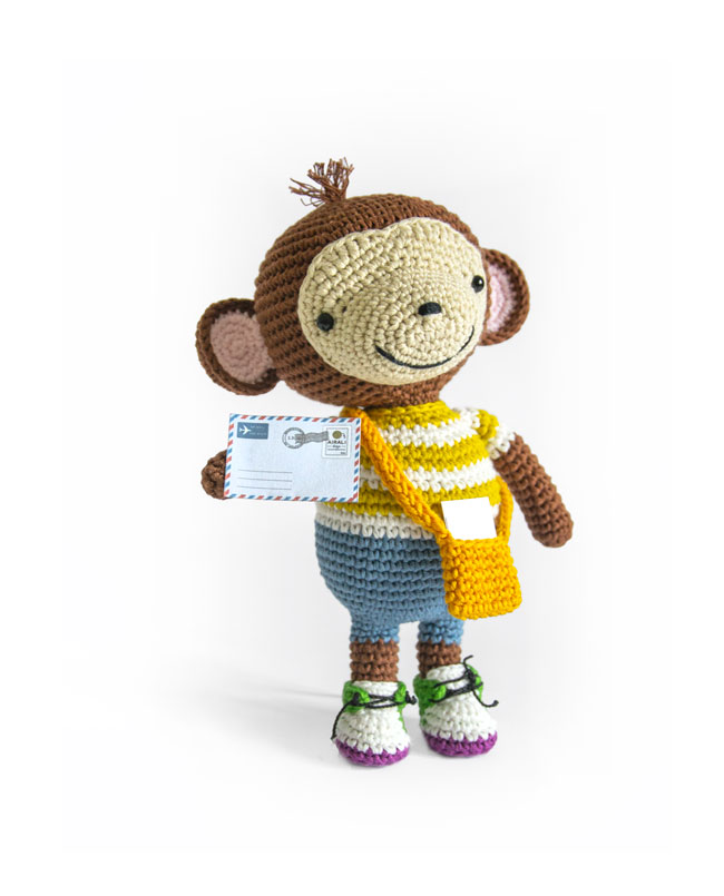 Amigurumi monkey mail - Airali design