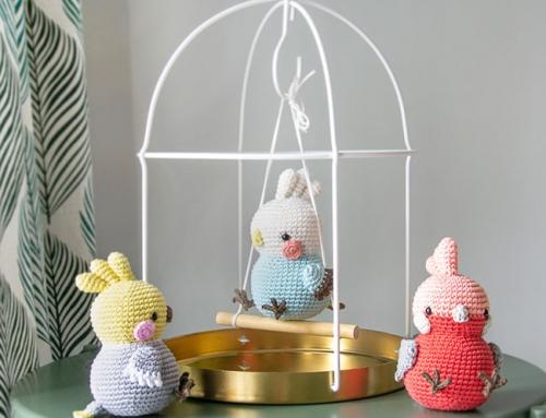 Uccellini Paffuti amigurumi: Calopsita, Parrocchetto e Cacatua rosa a uncinetto