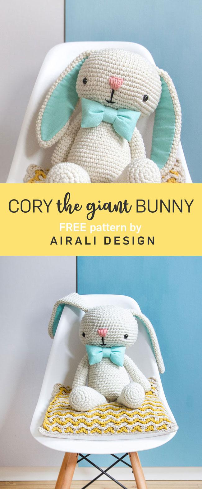 Free Amigurumi Pattern Cory The Giant Bunny Airali