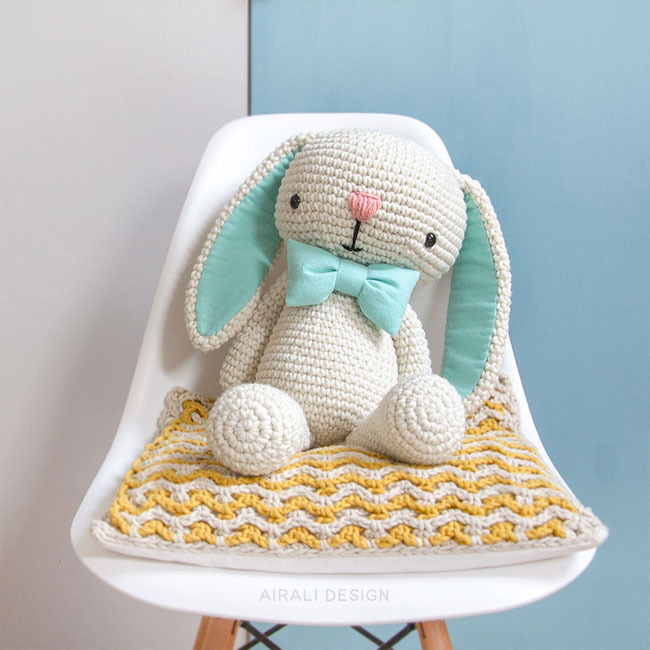 Cory the Amigurumi Bunny - Crochet Pattern by Airali design