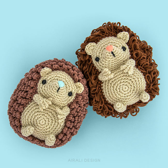 Roly the Amigurumi Hedgehogs - Crochet Pattern by Airali design
