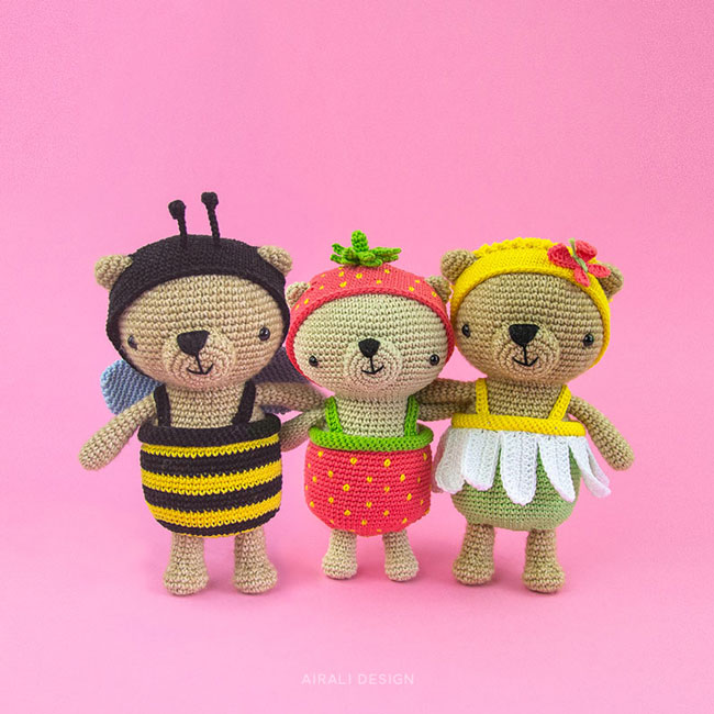 Amigurumi Dress-Up Bears - Crochet Pattern by Airali design