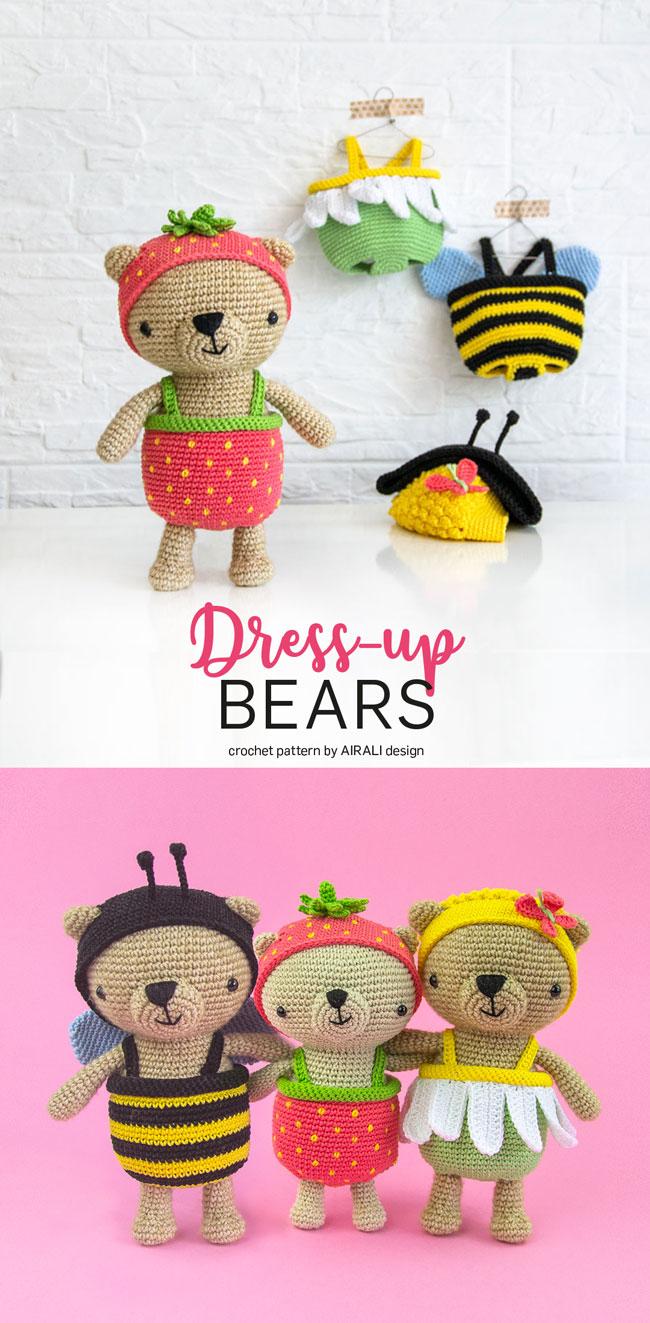 Honey Pie Amigurumi Dress-Up Doll with Picnic Play Set: Crochet ... | 1323x650