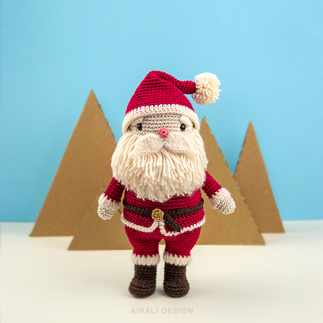 Santa Claus Amigurumi - Christmas Crochet Pattern by Airali design
