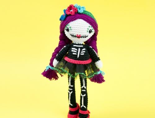 Sugar Skull Amigurumi Mexican Doll
