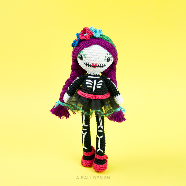 Amigurumi Mexican Skull Doll - Crochet Pattern by Airali design