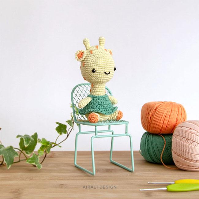 Gill the Amigurumi Giraffe - Crochet Pattern by Airali design