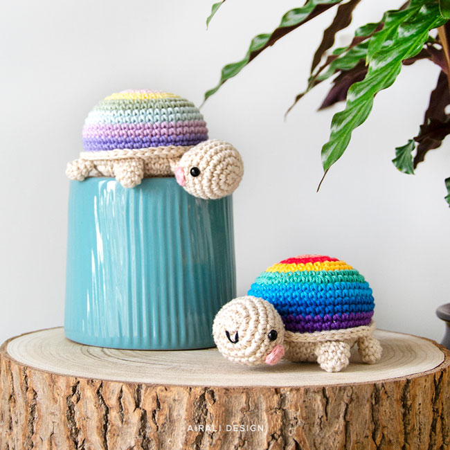 Amigurumi Rainbow Tortoise - Crochet Pattern by Airali design