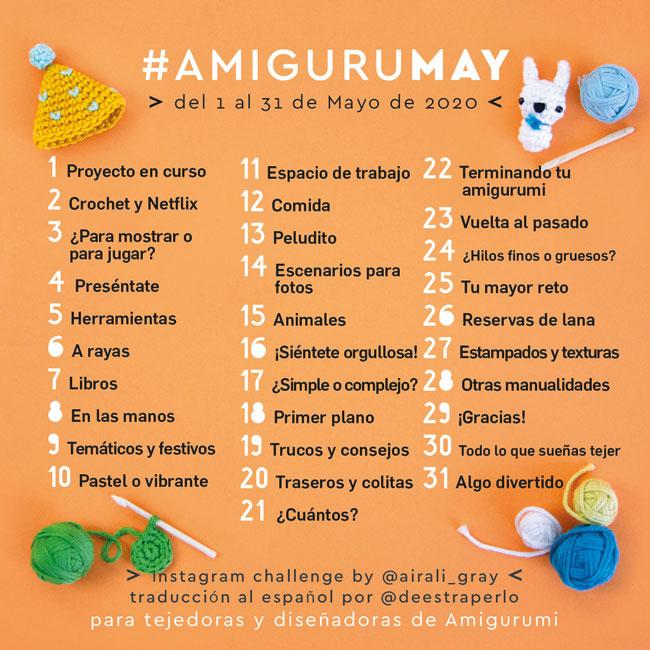 AmiguruMAY 2020 Instagram Challenge for amigurumi makers and designers