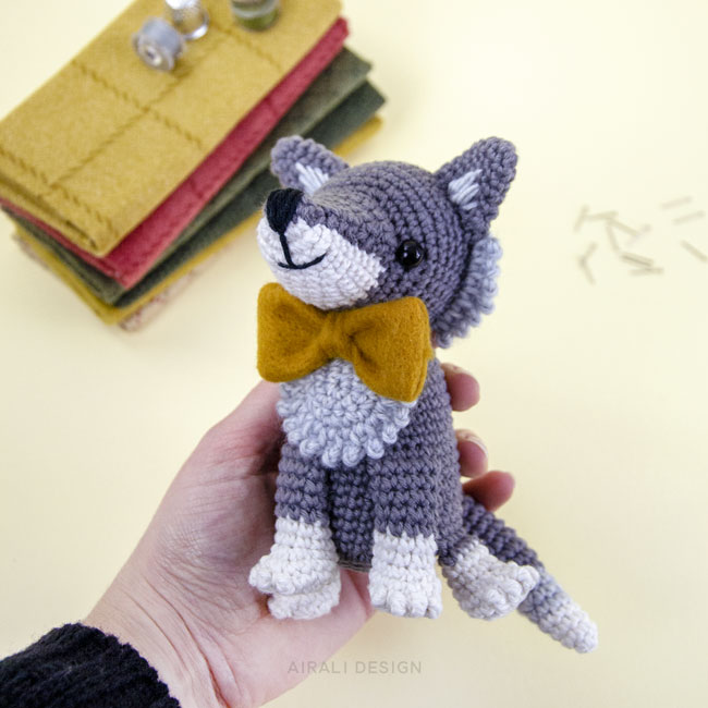 "Amigurumi – Crochet Lovely Wolf ""Diego"" - premium & free patterns ... 