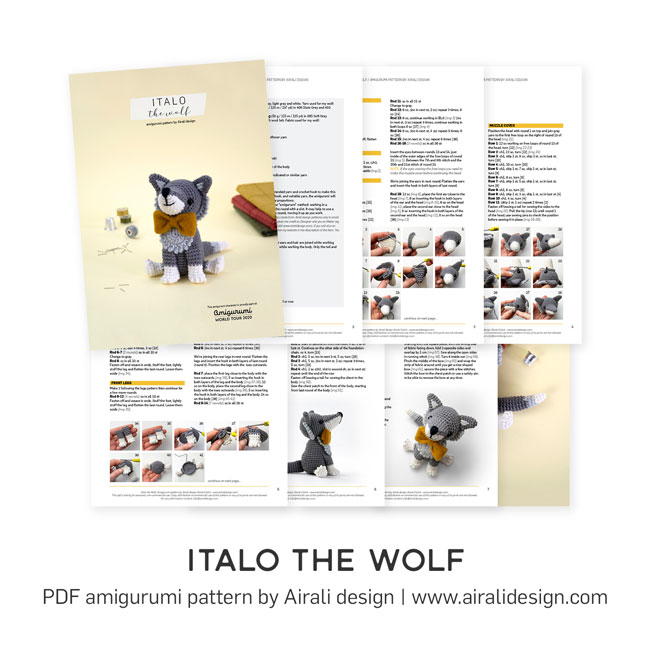 Italo the Wolf amigurumi pattern