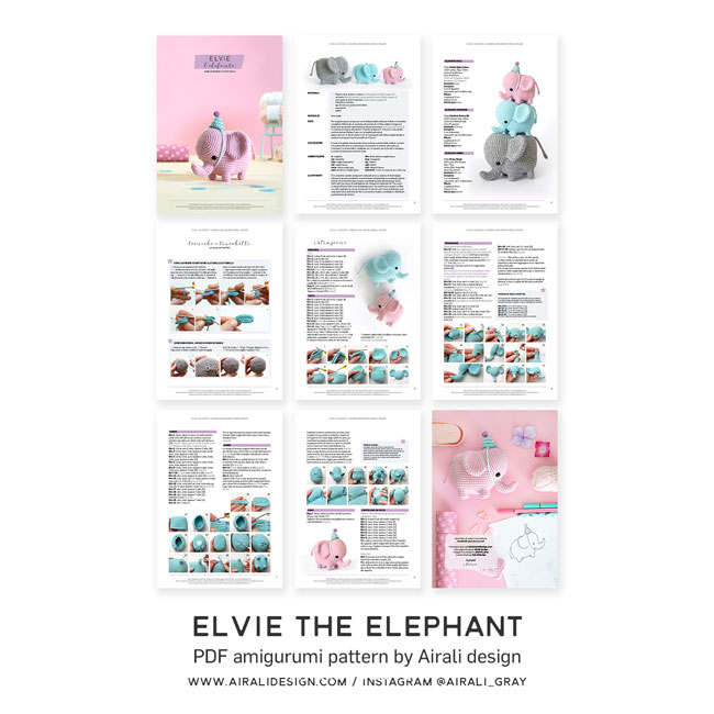 ESTHER THE ELEPHANT FREE AMIGURUMI FREE PATTERN – EN – Free Amigurumi | 650x650