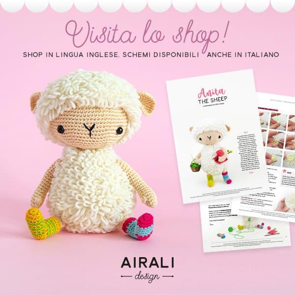 Vistita lo shop di Airali Design, Schemi Amigurumi a uncinetto in PDF
