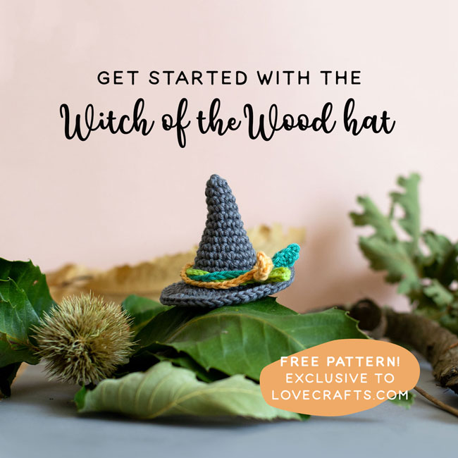 Amigurumi School of Magic 2 MCAL - Witch of the wood hat - free pattern